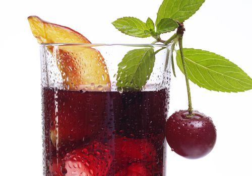 Cherry juice, close-up