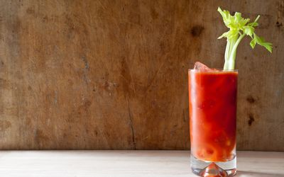 Bloody Mary with a stalk of celery