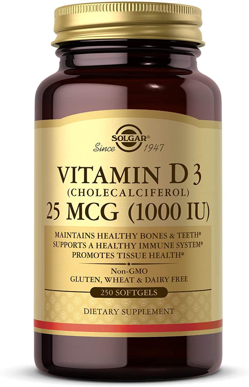 Solgar Vitamin D3 Softgels