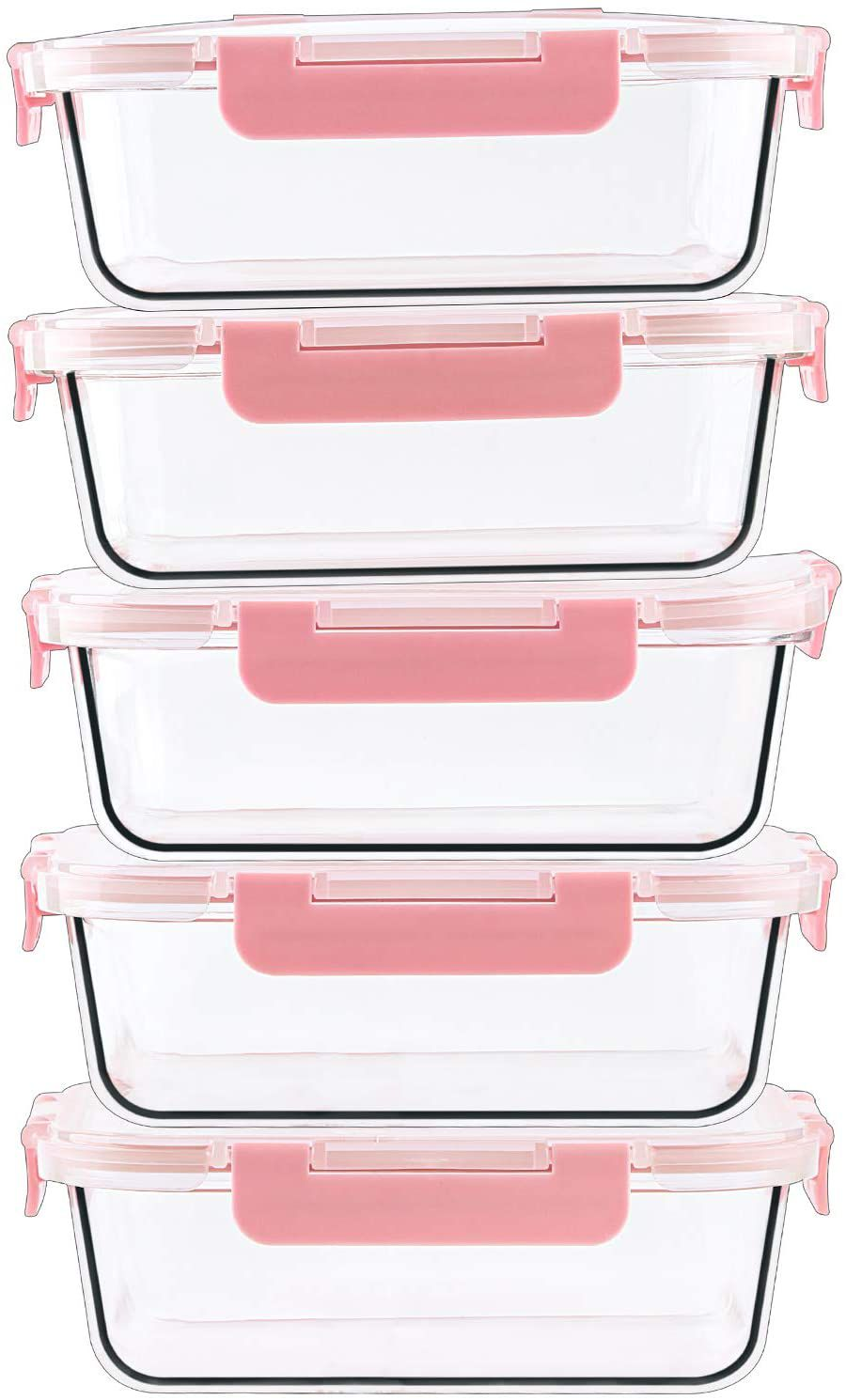 C CREST 5-Pack Glass Food Storage Containers
