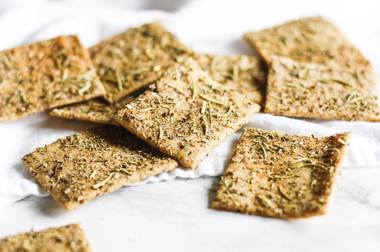 Whole Wheat Rosemary Crackers