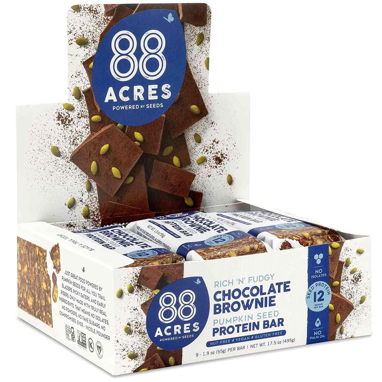 88 Acres Dark Chocolate Brownie Protein Bars
