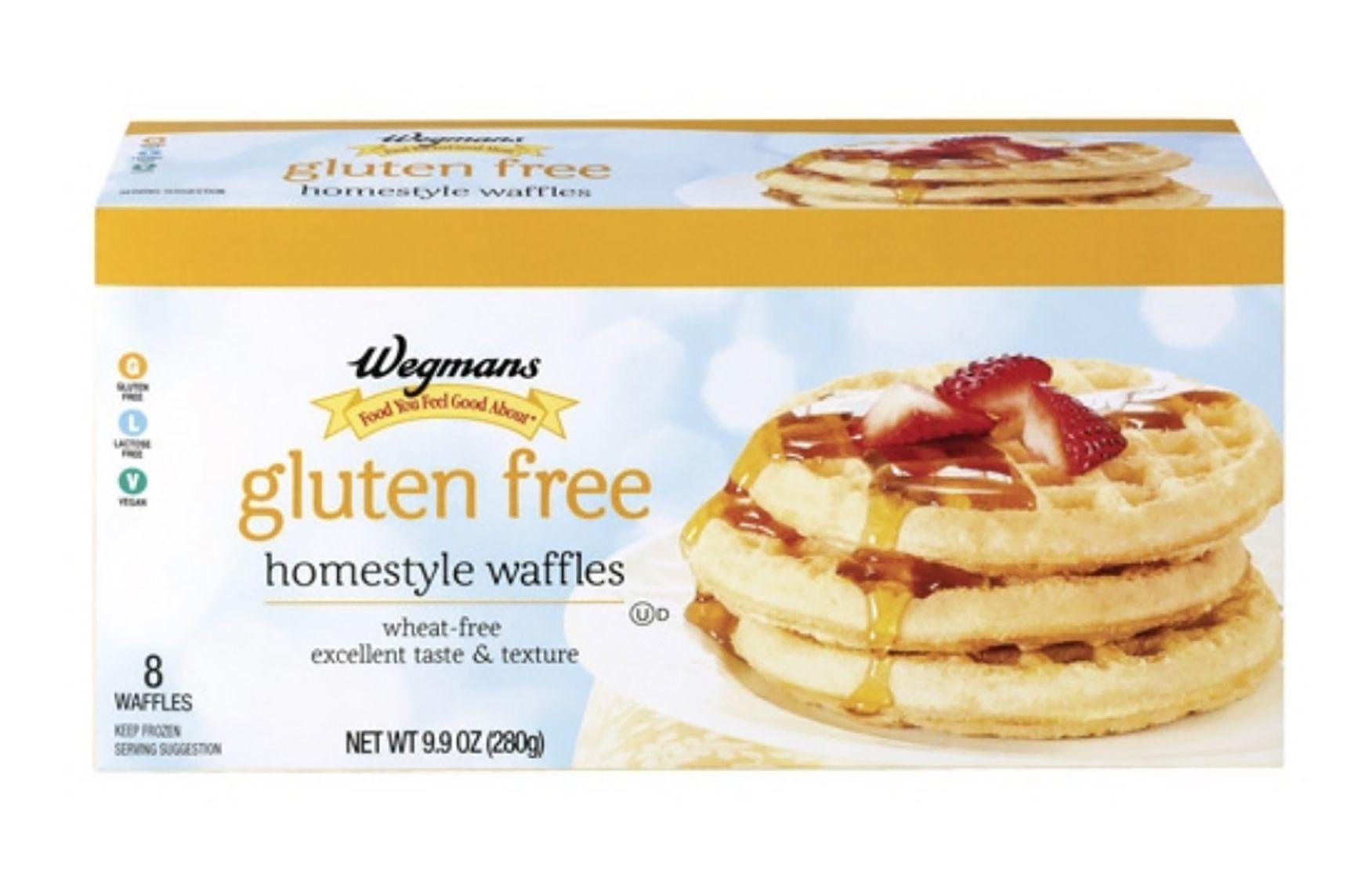waffles congelados sin gluten de wegman