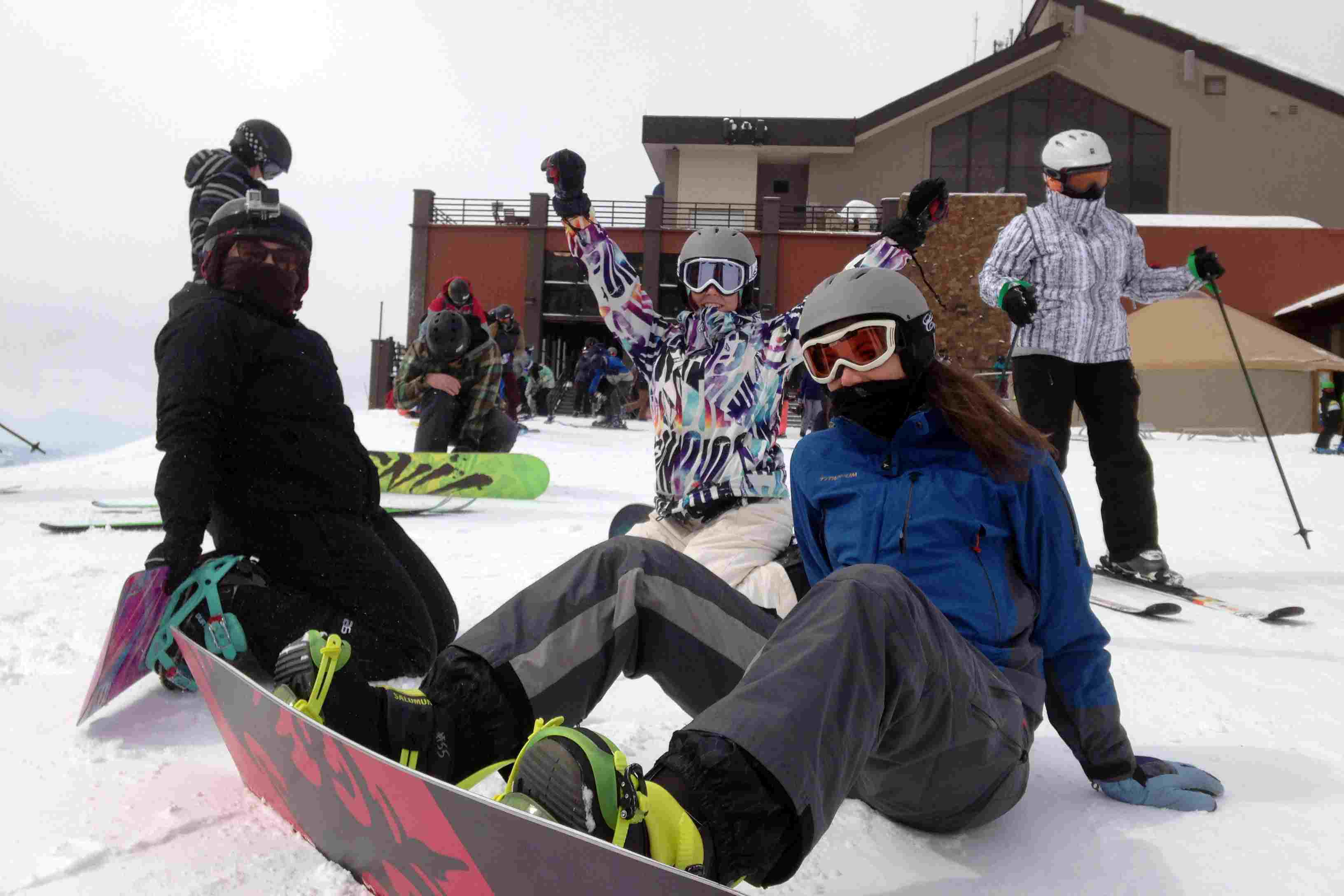barco de vapor de snowboard