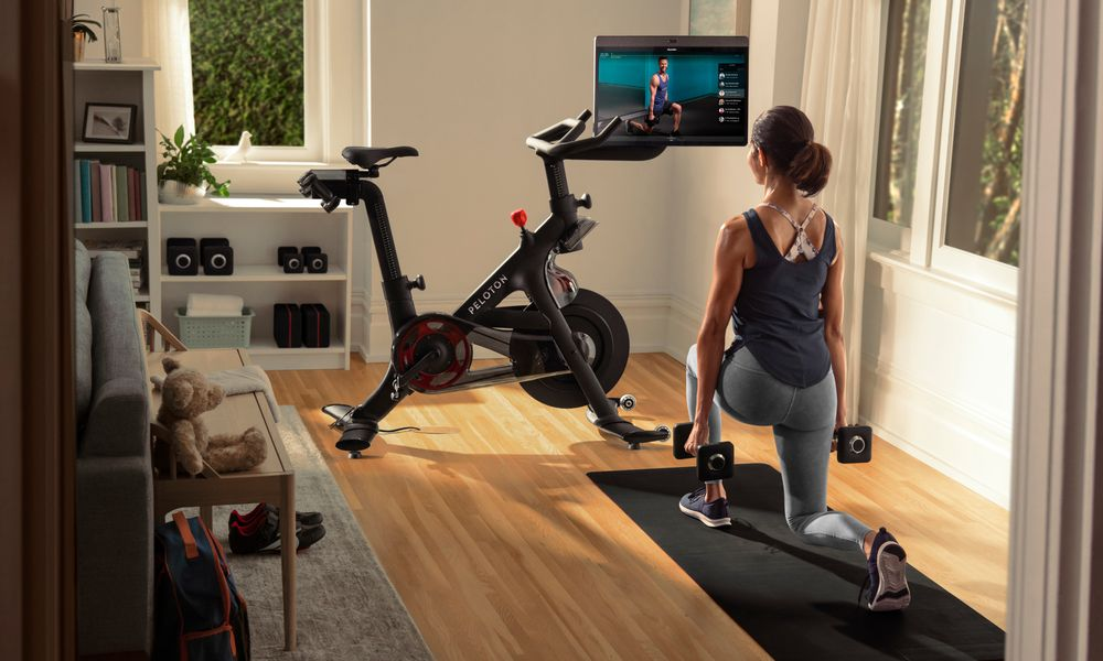 Peloton+ at home bike