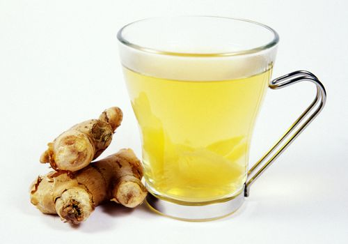 Glass of ginger tea