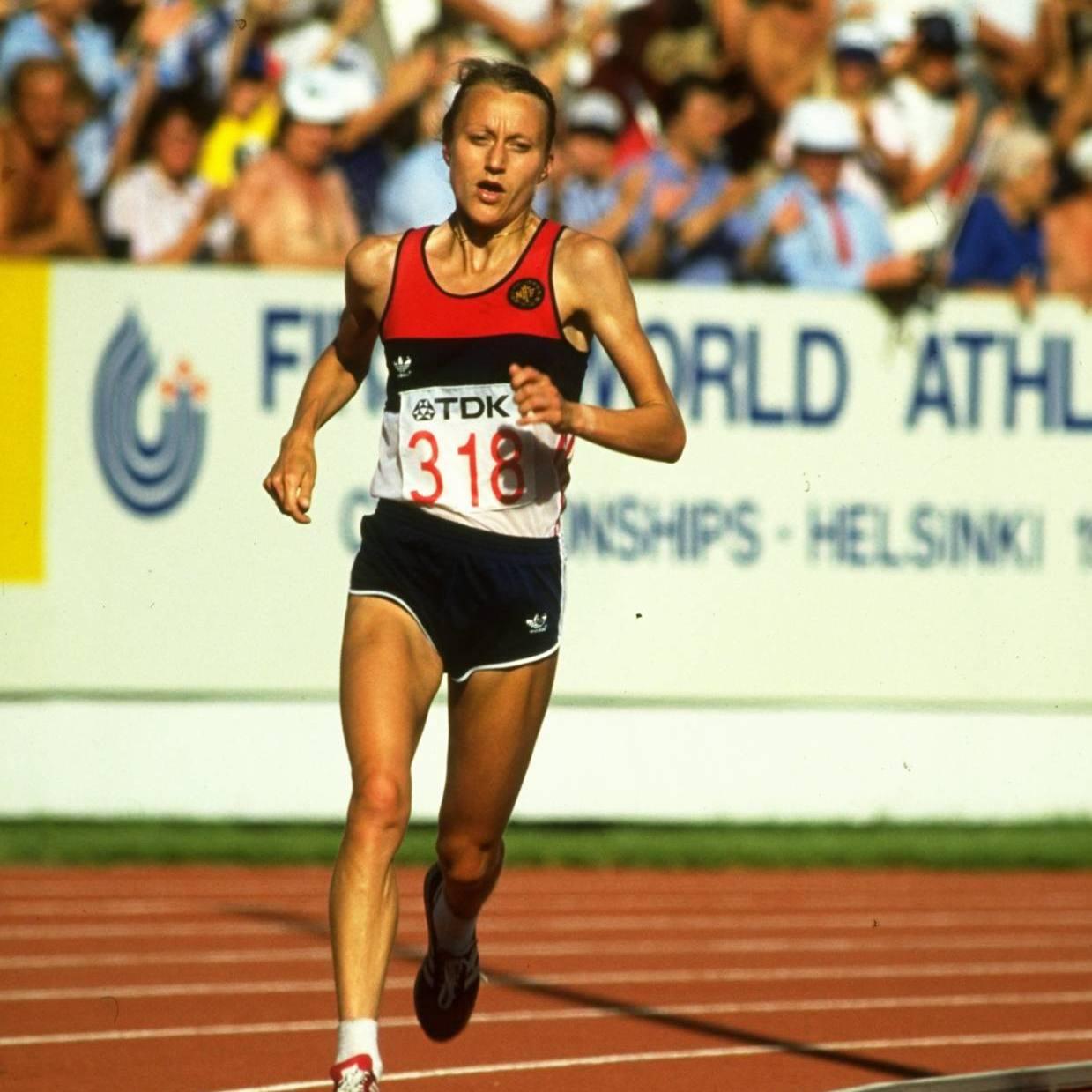 Grete Waitz en el Maratón de Nueva York de 1978.