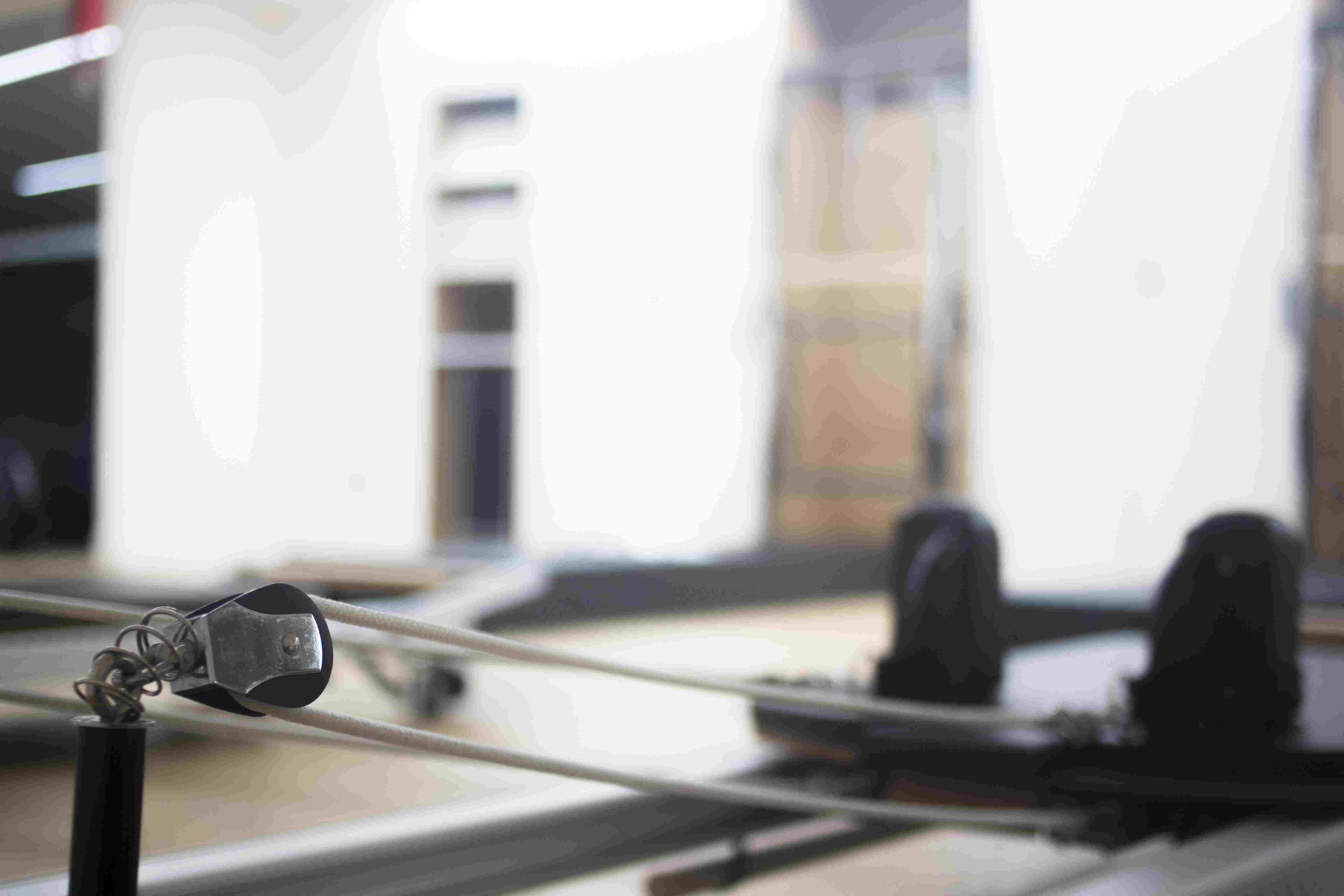 Pilates machine gym training fitness health studio equipment.
