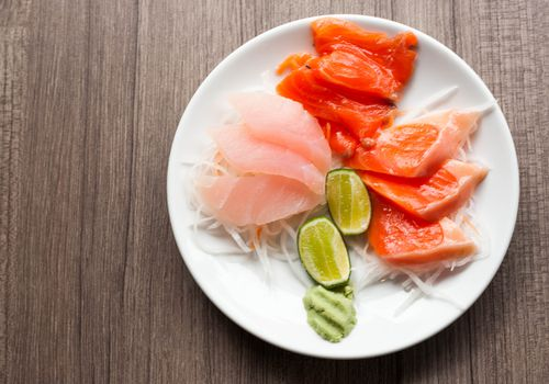 Tuna and salmon plate