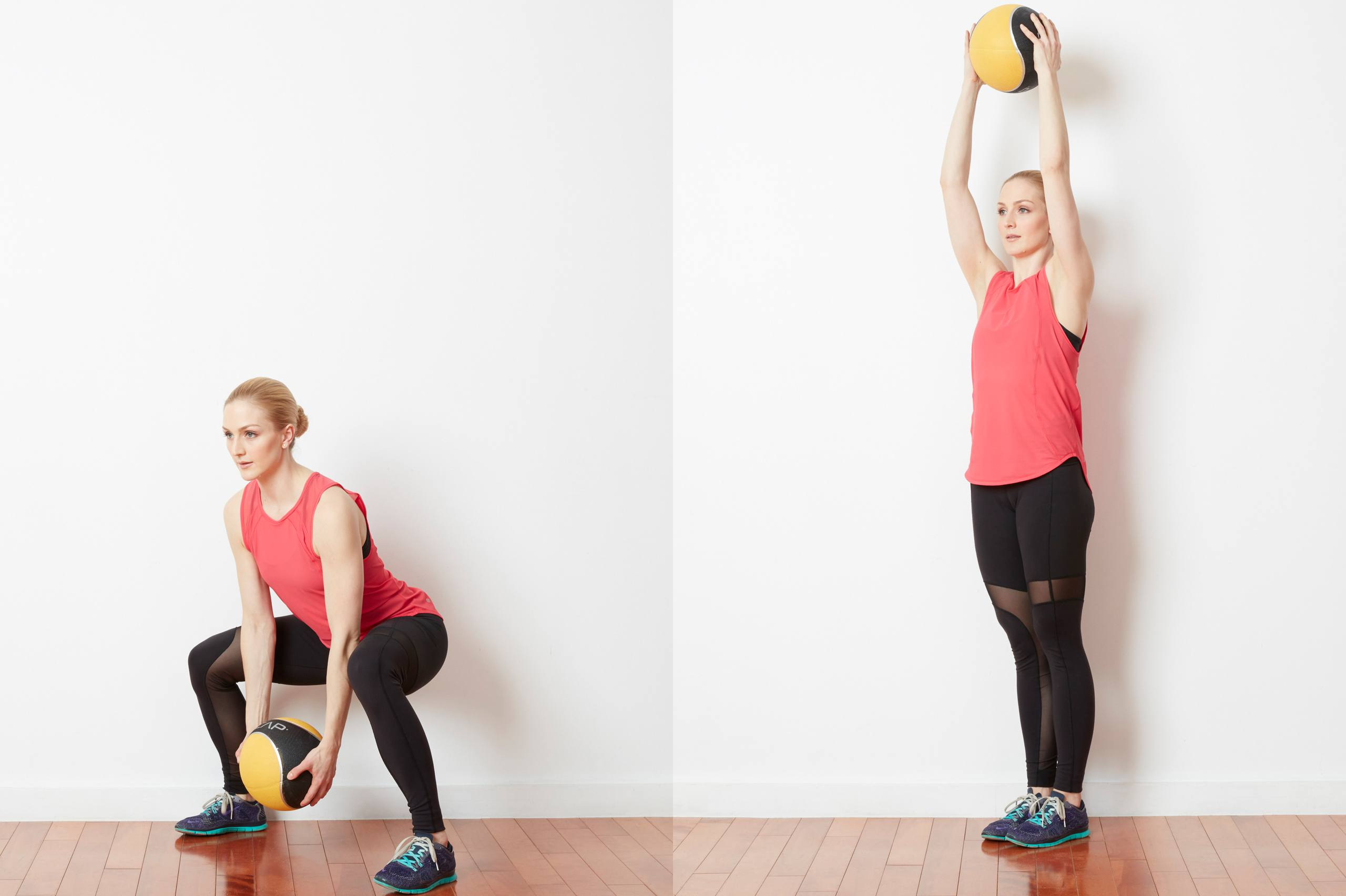 Medicine Ball Squat and Swing.