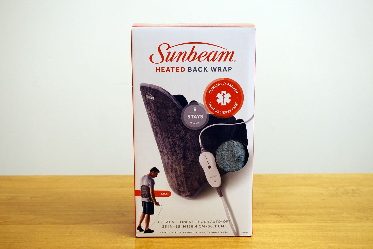 Sunbeam Heated Back Wrap with Adjustable Strap