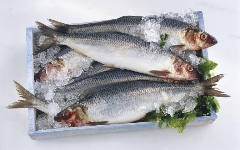 Herring is high in omega-3 fatty acid.