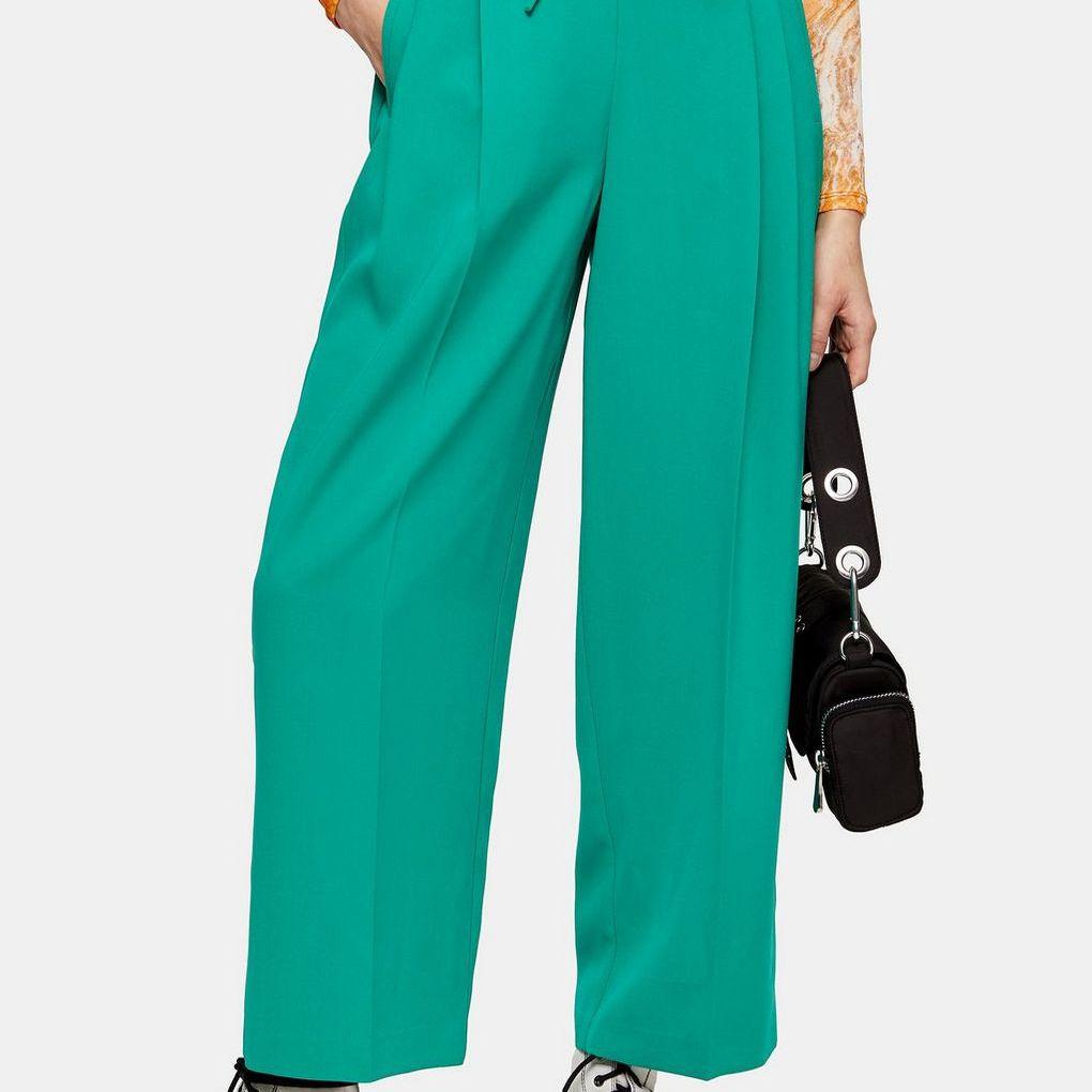 Pantalones deportivos plisados con cintura elástica de Topshop