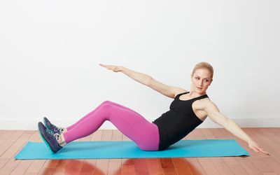 Woman doing an ab exercise