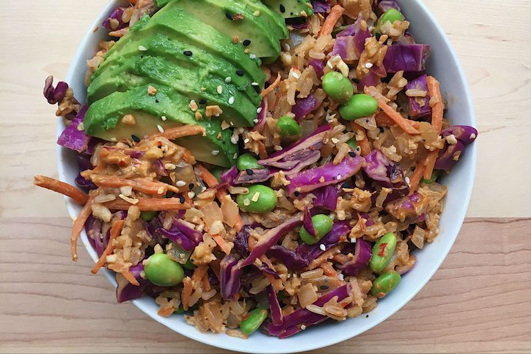 vegan rice bowl