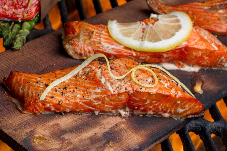 Wild Caught Salmon on a Grill