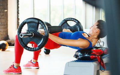 Hip thrust exercise