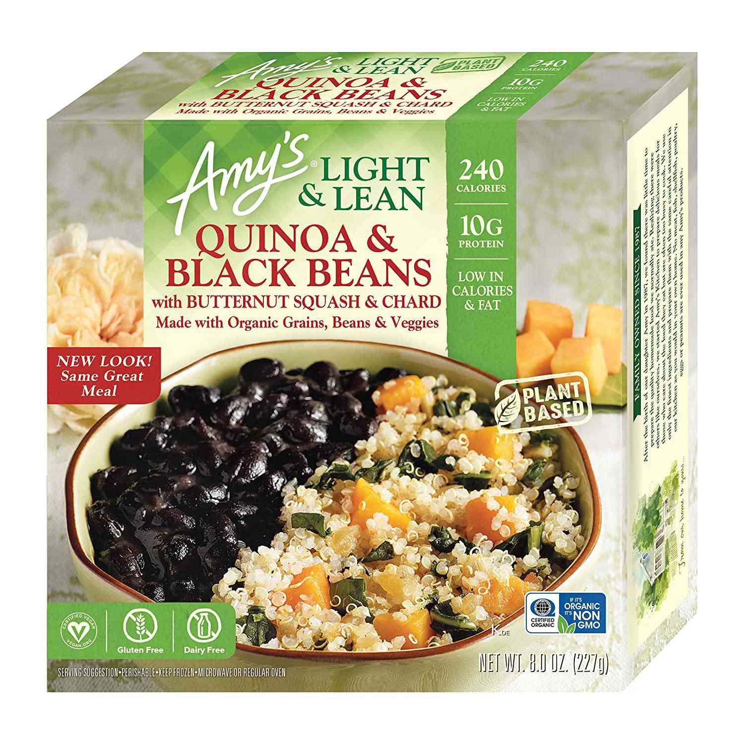 Amy's Light & Lean Quinoa and Black Beans with Butternut Squash & Chard Bowl
