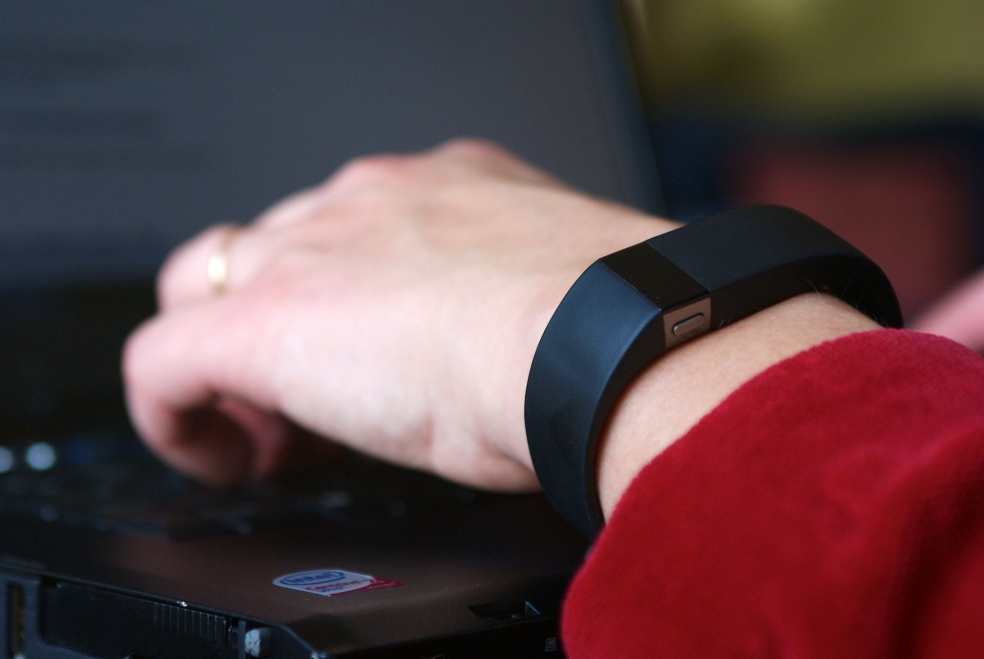 Wearing a Fitbit Fitness Band While Typing