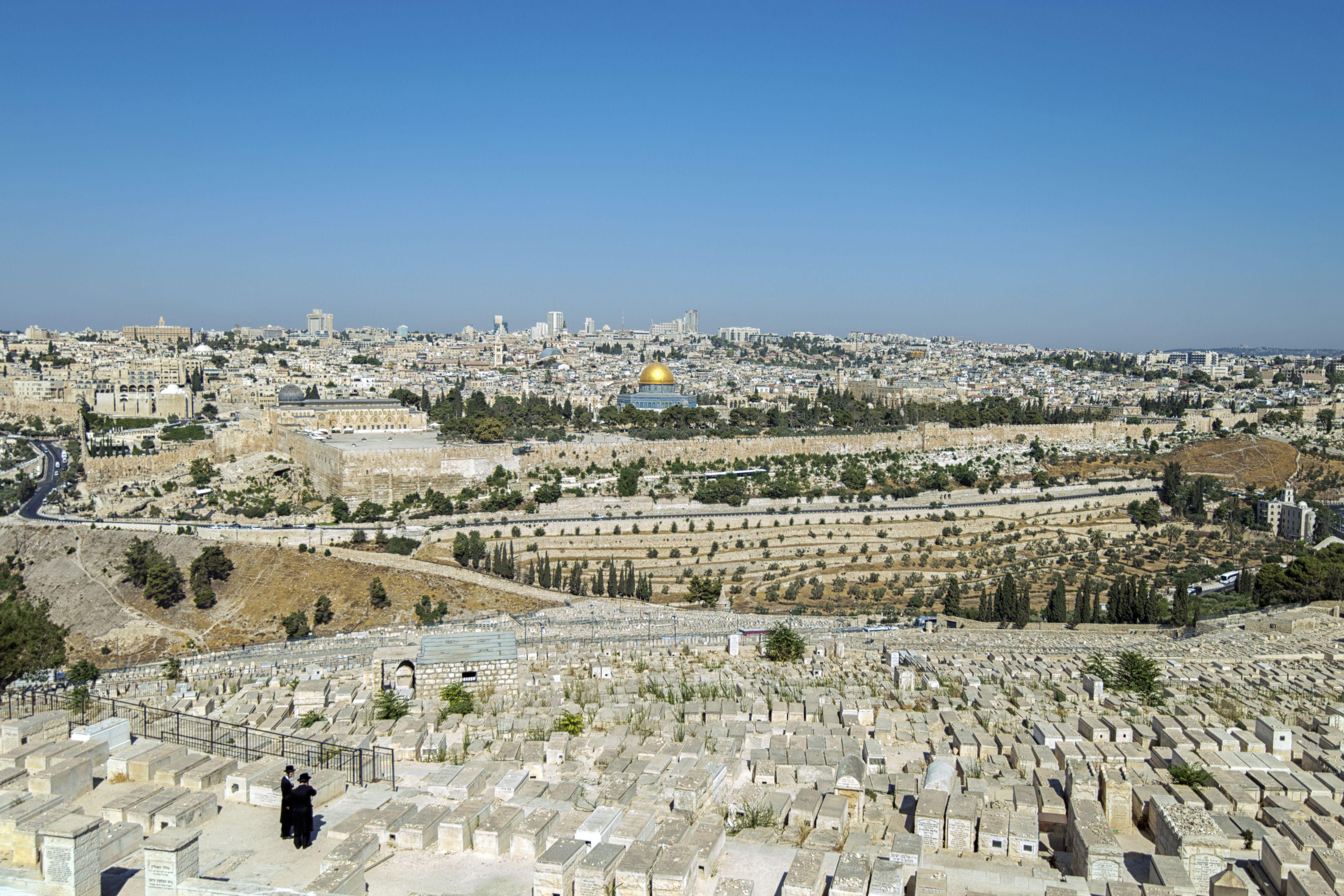 walking the mount of olives in jerusalem