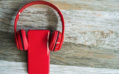 headphones and phone