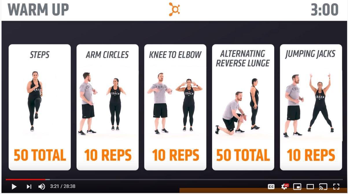 Captura de pantalla de Orangetheory Fitness en Youtube