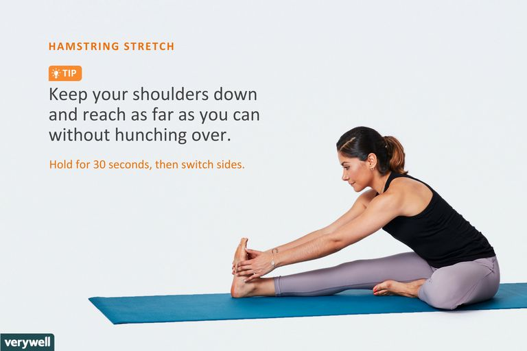 woman doing seated hamstring stretch