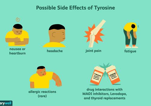 Possible side effects of tyrosine