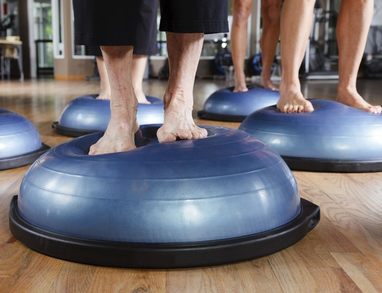 People standing on BOSU balance trainer