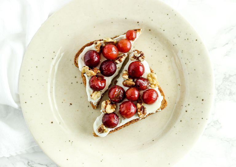 Roasted Grape Walnut Toast