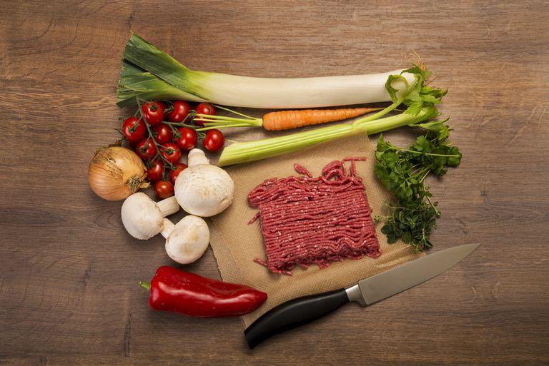 Vegetable mincemeat pan, ingredients