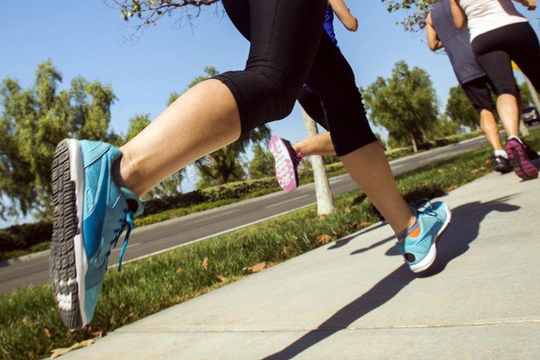 runner on sidewalk