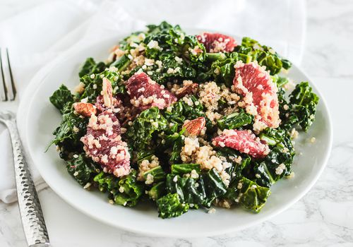Blood Orange Quinoa Kale Salad