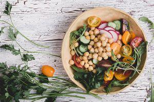 vegan bowl of food
