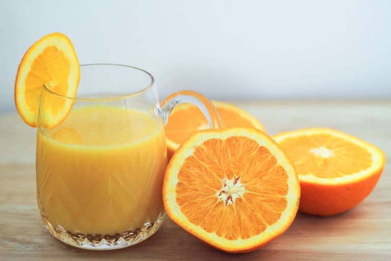 Oranges and juice are good for your bones.