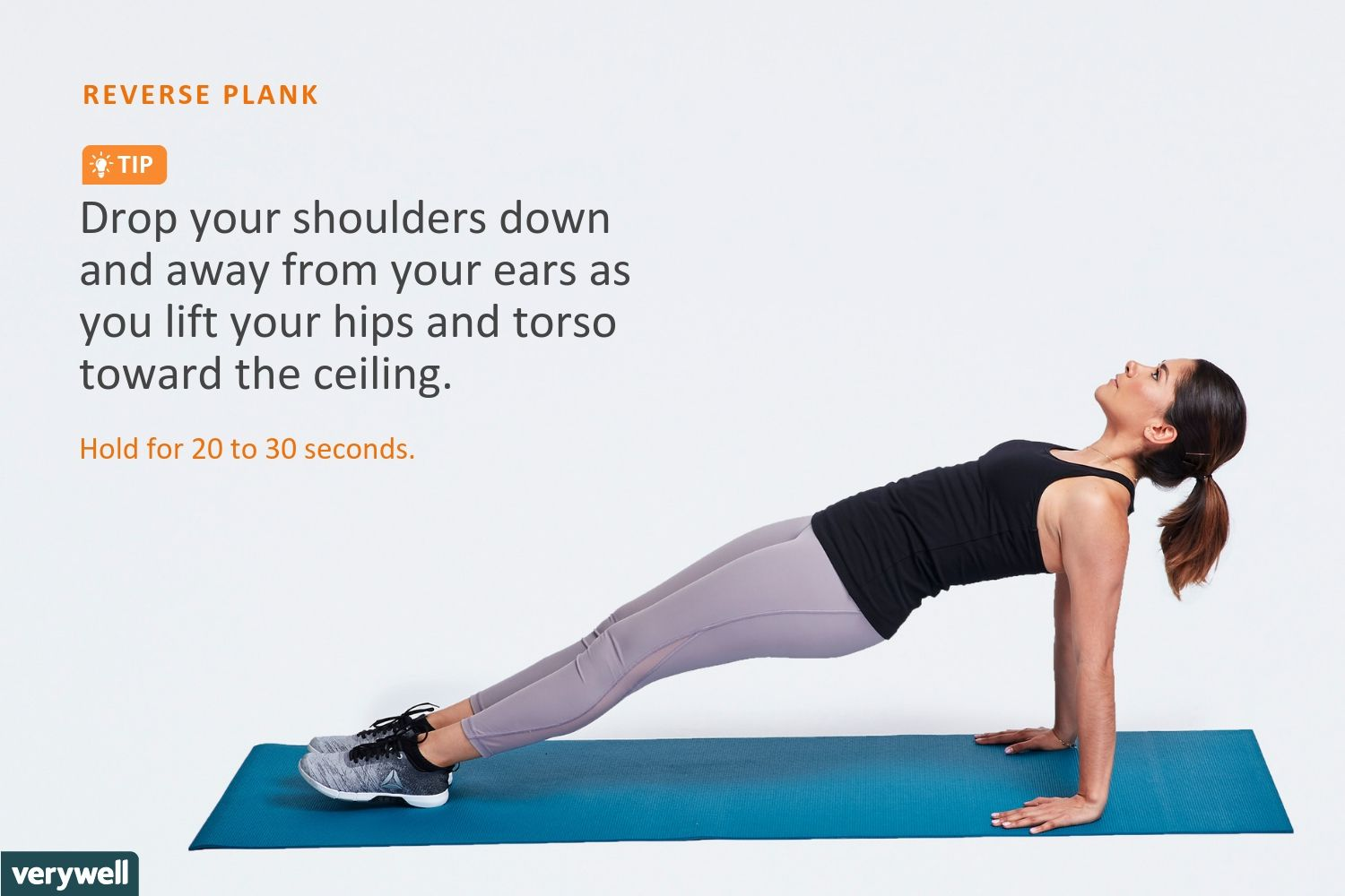 Reverse Plank Exercise for Your Core