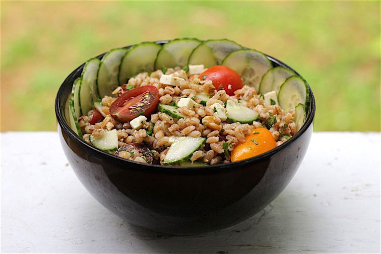 sprouted barley salad
