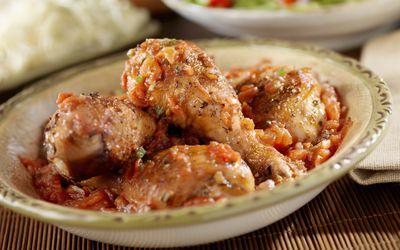 Chicken Cacciatore in a bowl