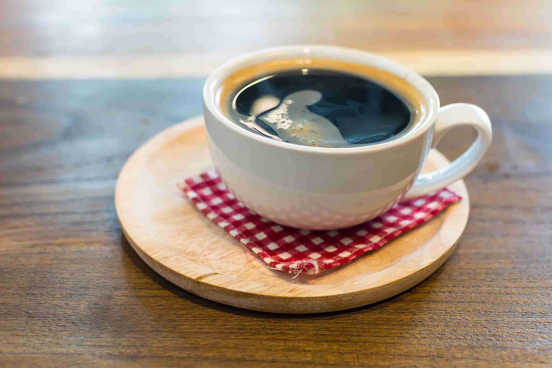 Black Coffee With Napkin
