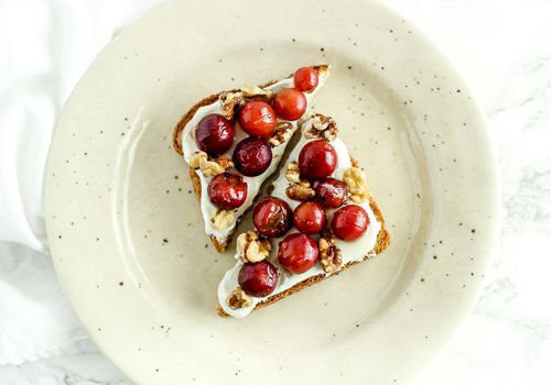 Roasted Grape and Walnut Toast