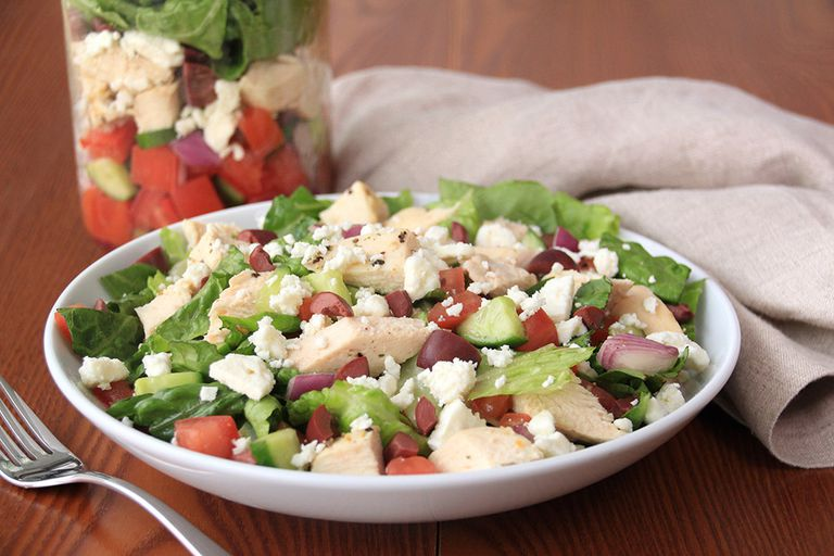 No-Cook Lunch & Dinner Dishes: Greek Salad in a Jar