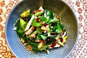 low carb pomegranate salad