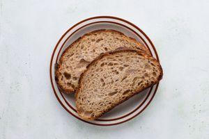 sourdough bread on a plate
