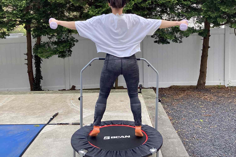 BCAN Foldable Mini Trampoline Fitness Rebounder