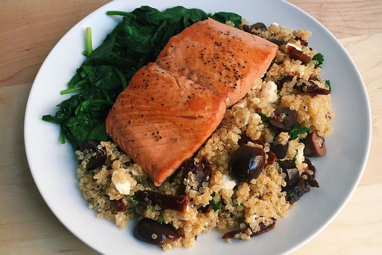83de70f8c173 Pan-Seared Salmon With Mediterranean Quinoa