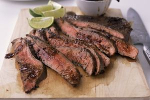 Flank Steak on a cuttin gboard