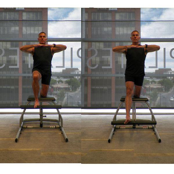 ejercicio de silla de pilates