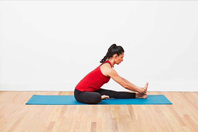 Head to knee pose