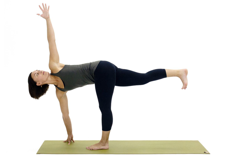 Yoga Poses for Hamstrings: Revolved Half Moon Pose - Parivrtta Ardha Chandrasana