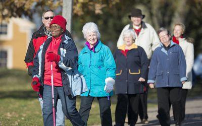 Senior Walking Club Group Walk